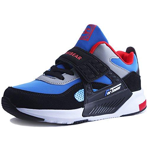 HAP JUMP Turnschuhe Jungen Mädchen Sportschuhe Kinder Hoch Sneaker Hallenschuhe Laufschuhe Outdoor Basketball Schuhe für Unisex-Kinder Blau,34=21.0cm Intern (34 EU)