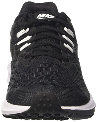 Nike Herren Air Zoom Winflo 4 Laufschuhe Schwarz (Black/white-dark Grey)