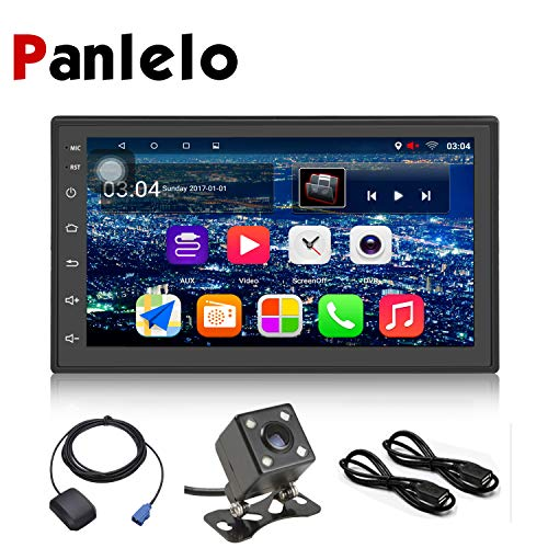 Panlelo S6CA Android 7.1 Auto Stereo GPS-Navigation Quad Core Auto Radio 4LED Rückfahrkamera Mirror Link Freisprechfunktion Anruf 7 Zoll 2 Din In Dash Videomusik Touchscreen 1080P