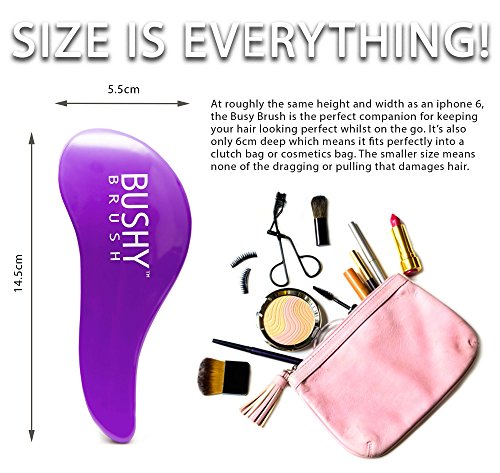 51YNb GlzvL - Bushy Brush Original Detangling Hairbrush - Lush Lilac