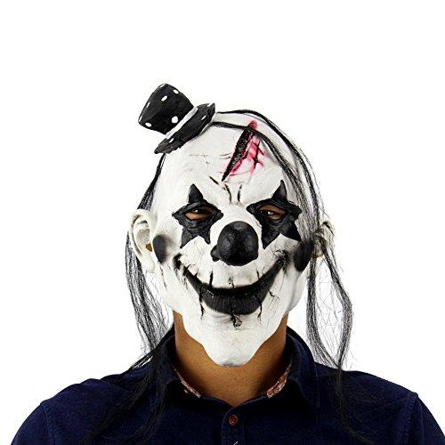 Reefa Halloween Terror Mask Tanzstützen Gummiband -Stil mit Clown Hexe Tote (Von Kostüme Clown Bilder)