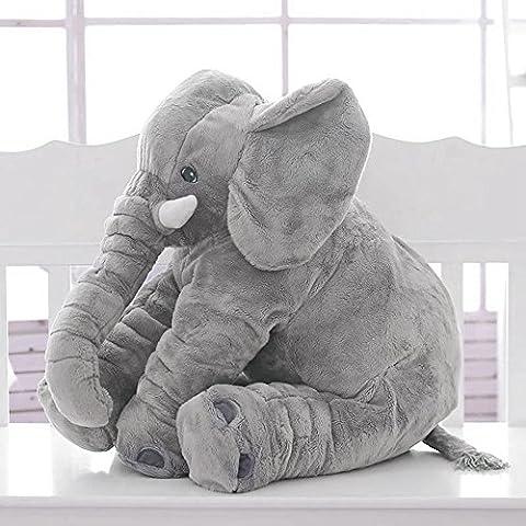 Baby Elephant Pillow Novelty Animal Plush Soft Children Sleeping Comfort Cushion Doll Toy 23.6inch