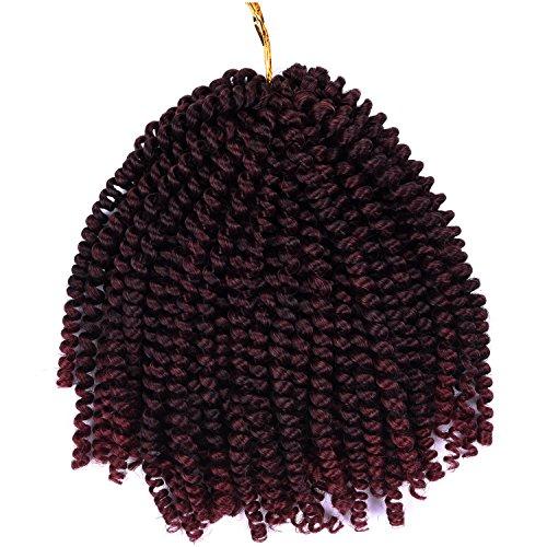 Silike spring twist crochet hair extensions (2pezzi/confezione) 20,3cm crochet trecce sintetico naturale treccia capelli per donne per regali