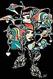 wjwiang Moderne Wandkunst Sophia Mit Bunten Blumen Ölgemälde Auf Wand Leinwand Bilder Wohnkultur Für Wohnzimmer Geschenk Rahmenlose 70X100 cm Ungerahmt Pc6090
