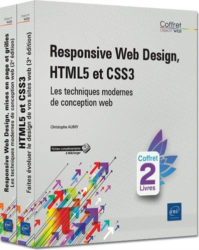 Responsive Web Design, HTML5 et CSS3 : Les techniques modernes de conception web - Pack en 2 volumes