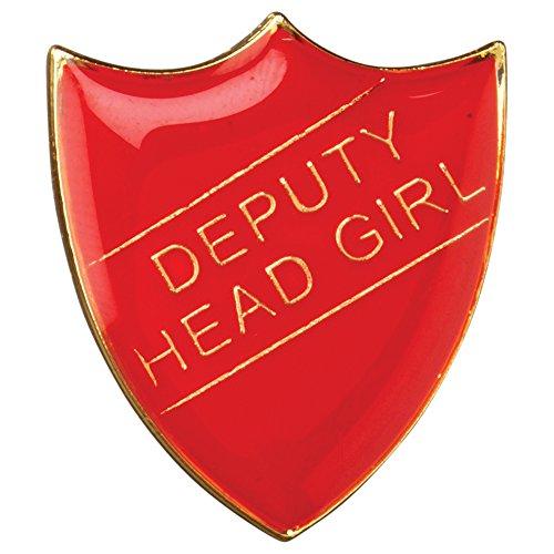 Deputy Head Girl Shield Badge Red Large 3cm GW/SR4