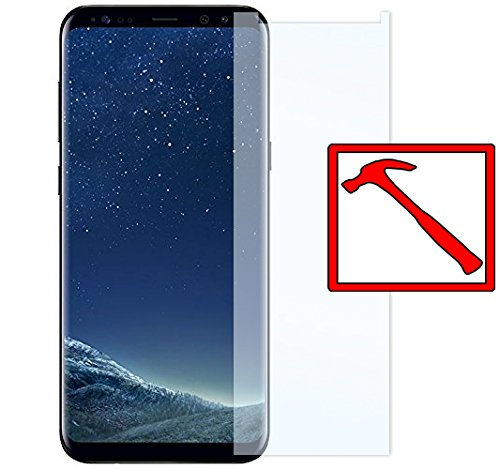 Slabo 2 x Premium Panzerglasfolie Samsung Galaxy S8+ Echtglas Displayschutzfolie Schutzfolie Folie (verkleinerte Folien, aufgrund der Wölbung des Displays) S8 Plus Tempered Glass KLAR - 9H Hartglas