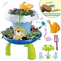 deAO Fairy Tale Garden Magical Cottage Playset DIY Miniature Gardening for Kids