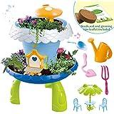 deAO Giardino in Miniatura Giardino Fatato con Luci e Suoni attività Botanica per Bambini Coltiva Le tue Piante e Fiori Kit Include Semi, Terra e Accessori