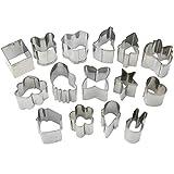 HUAFA 15PC Mini Stahl Form Ausstecher Ausstechformen Cutter Mould Set 15 Entwürfe für Plätzchen, Zuckerguss , Sugar & Kuchen-Dekoration