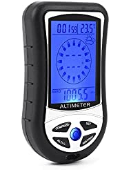 XCSOURCE Altimètre 8 en 1 compteur numérique multifonctions avec boussole baromètre thermomètre écran LCD rétro-éclairé TH325