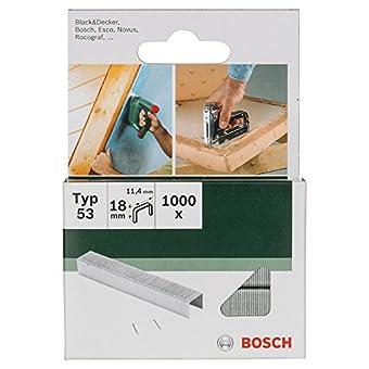 Bosch 2609255824 Agrafes à fil fin type 53 Largeur 11,4 mm Epaisseur 0,74 mm Longueur 18 mm 1000 pièces