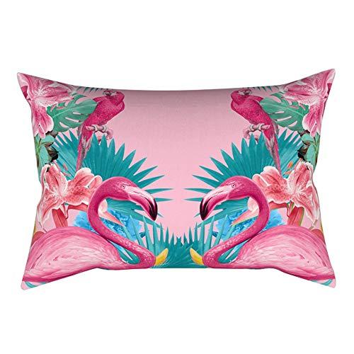 Amesii - Funda de cojín 30 x 50 cm, diseño de flamencos, poliéster, 9#, 30 x 50 Centimeters