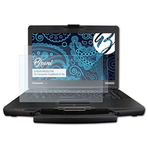 Bruni Schutzfolie für Panasonic ToughBook CF-54 Folie, glasklare Bildschirmschutzfolie (2X)