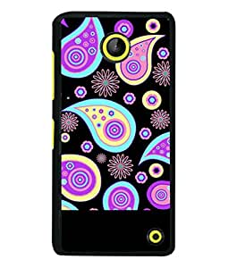 FIOBS abstract ethnic design art floral pattern Designer Back Case Cover for Microsoft Lumia 630