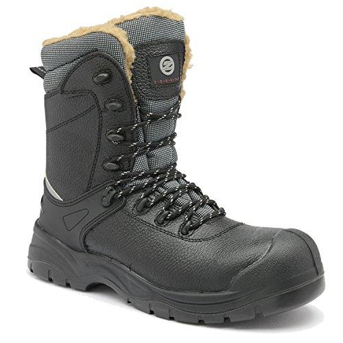 ece266276c3 Zephyr Z026 S3 SRC Black Composite Toe Cap Cold Work Thermal Winter Safety  Boots (UK 10)