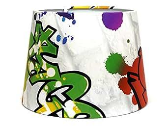 graffiti ou abat jour abat jour lustre 24 double usage ou abat jour suspension pour enfant urban. Black Bedroom Furniture Sets. Home Design Ideas