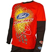 OMSE T-Shirt à Manches Longues pour Ford Fiesta Extreme Rally Cross  Rouge Noir ebb386658c37