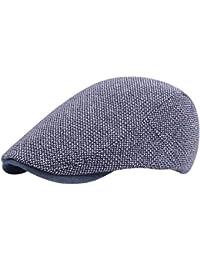 iShine Unisexe Béret de Loisir Homme Chapeau Feutre Bonnet Réglable  Casquette par Coton pour Extérieur Voyage 24193a61556