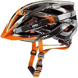 Uvex I-VO C - Casco de ciclismo unisex, color plata / naranja, talla 52-57