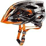Uvex Fahrradhelm i-vo C, Dark Silver/Orange, 56-60 cm, 4104170317