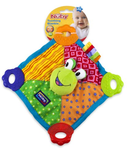 Nuby Teething Blankie (Styles May Vary) 51YNgnIN9nL