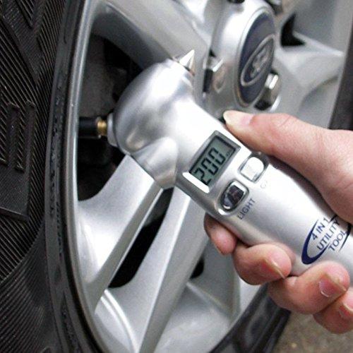 Preisvergleich Produktbild legow Auto Digitaler Reifendruckprüfer mit LCD Meter Tester 4 in1 Sicherheit Genaue Reifendruck Auto-Monitor-System
