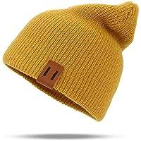 QXX Sombreros de Invierno para Mujer Hip Hop de Punto Sombrero de los  Hombres Holgados Slouchy aeb3f808522
