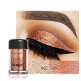 Fards à paupières, Malloom Focallure 12 couleurs Maquillage des ombres à l'oeil Perle métallisée Ombre à paupières Palette (#02)