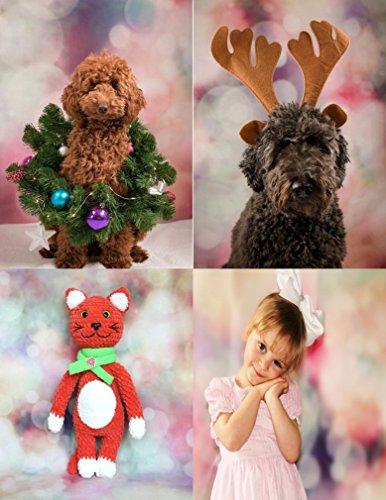 to Hintergrund Weihnachten Vinyl Bokeh verschwommenes Licht Glitter Farbige Flecken Fotografie Hintergrund Foto Leinwand Kinder Fotostudio 5x7ft ()