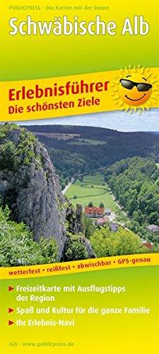 Schwäbische Alb: Erlebnisführer mit Informationen zu Freizeiteinrichtungen auf der Kartenrückseite, GPS-genau. 1:170000 (Erlebnisführer / EF)