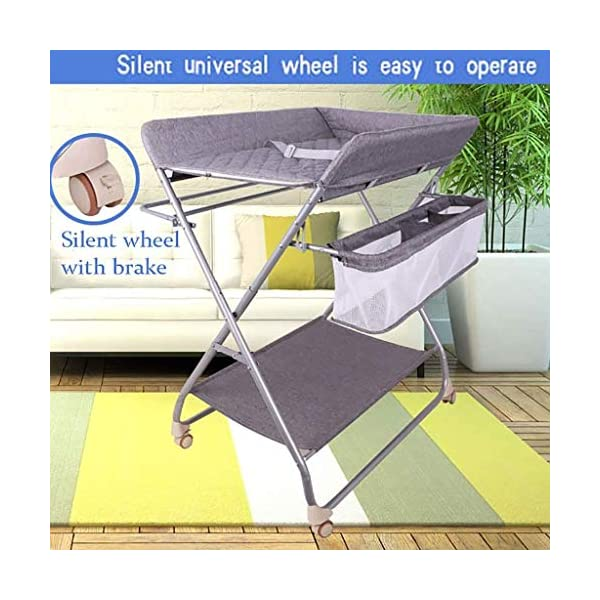 QZQKQ Universal Baby Cot Top Changer Portable Changing Table Diaper table Folding Baby Changing with Safety Straps QZQKQ *Material: Linen cloth, steel pipe *Suitable for 0-12 months baby, most comfortable height for you to take care of your baby *Quick and easy folding or collapsible by folding mechanism 4