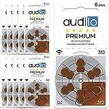 Audilo Hörgerätebatterie 312 (PR41) | Für alle Arten des Hörgerätes [Lange Frist] [1.45V [Zink-Luft] [Ohne Quecksilber] Satz von 60 Hörgerätebatterien