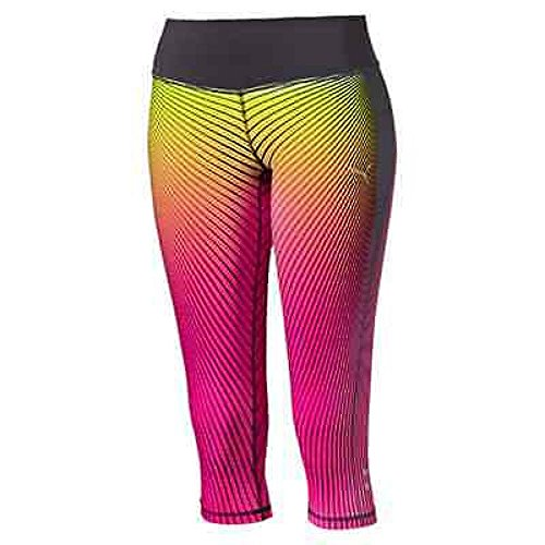 "PUMA pantalon de sport graphic collant de course 3/4 ""w S pink glo-periscope-sharp green-AOP Placed Olympics"
