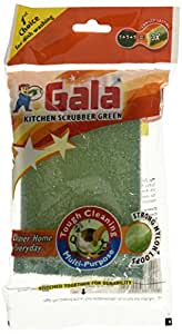 Gala Kitchen Scrubber Combo Set (Green, Pack of 4)