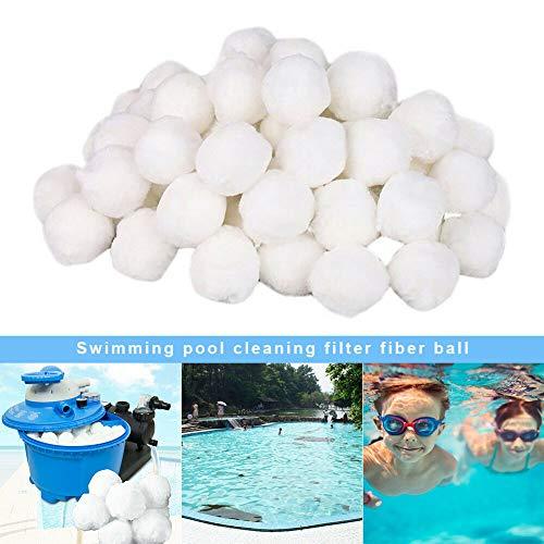 Leezo Pool Filterkugeln Umweltfreundliche Faserfiltermedien Schwimmbad Sandfilter Ersatz, Nitrifizierender Haarball, Filtrierender Haarball Pool Filtration