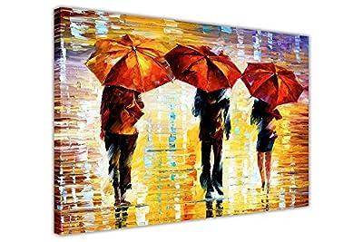 Landscape 3 Umbrellas By Leonid Afremov Canvas Wall Art Pictures Framed Prints Home Deco Posters - low-cost UK light shop.