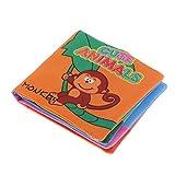 Sharplace Baby Stoffbuch Tuch Buch mit Ton, Englisch Lernen, 11 x 10 cm, Kinder Intelligenz Entwicklung Lernspielzeug - Tier