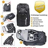 XTREMplus Active Cube M Rucksack - Premium Kamera Fotorucksack - Foto Rucksack mit Zugriff über die Seiten - Slingbag -