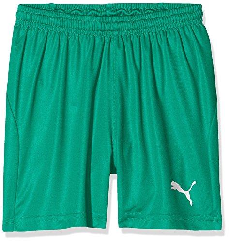 PUMA Kinder Liga Shorts Core w Brief Jr Hose Pepper Green White, 140