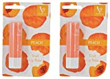 #10: Vinca Creation Fruit Lip Balm, Peach, 4.5g (Pack of 2)