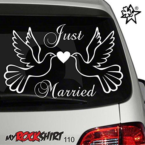 Hochzeitsaufkleber Typ 110 Just Married Autoaufkleber Deko Wandtattoo