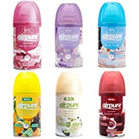 6 X AIRPURE FRESHMATIC AUTOMATIC SPRAY REFILLS 250ML MIXED SCENTS AIRWICK COMPATIBLE
