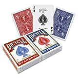Bicycle are the leading manufactures of Playing Cards and produce top quality cards. In this 2 pack, you will receive 1 blue and 1 red deck of cards. The quality finish results in easy deck shuffling and long lasting value. Warning: Not suita...