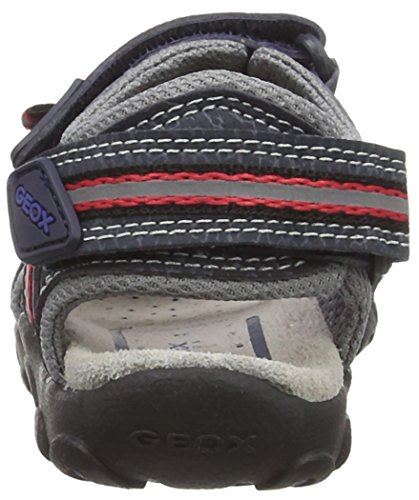 Geox  Sandal Strada a, Sandales garçon Bl(UK- - Blue (Navy/Red)