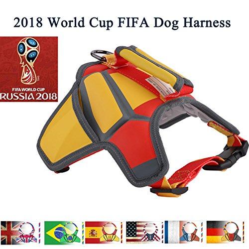 Flightbird Arnés para Perro Chaleco, 2018 Rusia de Fútbol Ajustable y Transpirable Chaleco de Mascota para Perros Pequeños/Medianos/Grandes Paseos al Aire Libre (S)
