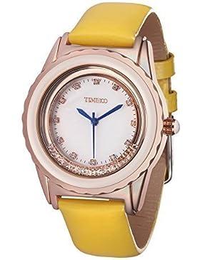 Time100 moderne Armbanduhr für Damen und Mädchen damenuhr Gelb #W50328L.05A