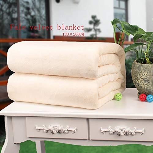 Huichao Gezählte Feste Farb-Samtdecke Einzelbett Einzel-Flanellkorallen-Samen-Geschenkdecke (180 × 200CM EIN Stück)