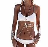 #4: Kardashian Women's Simple LayeRed Fringed Body Chain Gold Q2YLE146