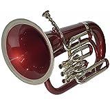 Euphonium BB Pitch rot + Messing mit gratis Tragetasche und Mund Stück